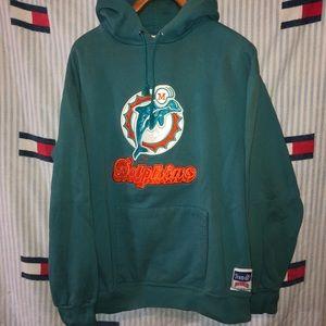 Vintage Miami dolphins hooded sweatshirt